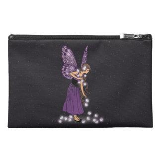 Glowing Star Flowers Pretty Purple Fairy Girl Travel Accessory Bag