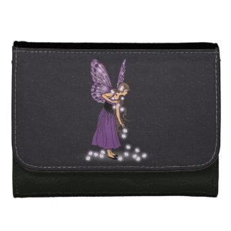 Glowing Star Flowers Pretty Purple Fairy Girl Wallet