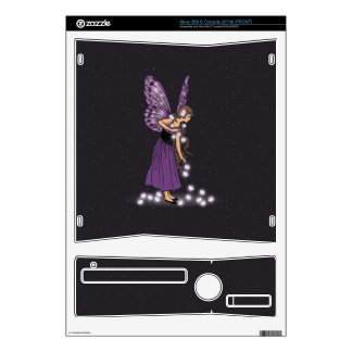 Glowing Star Flowers Pretty Purple Fairy Girl Xbox 360 S Skin