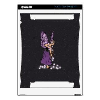 Glowing Star Flowers Pretty Purple Fairy Girl Xbox 360 Skins