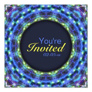 Glowing Star Mandala 5.25x5.25 Square Paper Invitation Card