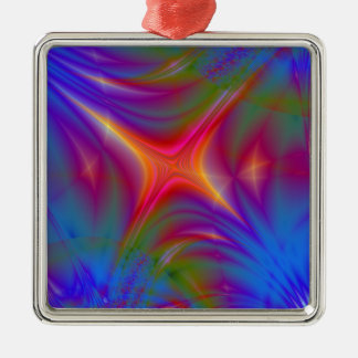Glowing Star Silver-Colored Square Decoration