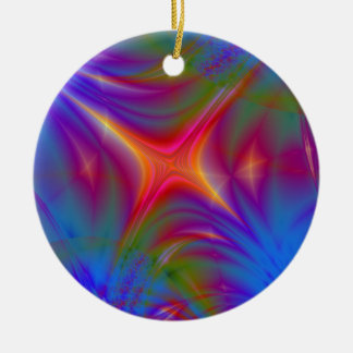 Glowing Star Round Ceramic Decoration