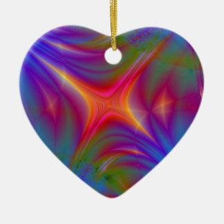 Glowing Star Ceramic Heart Decoration