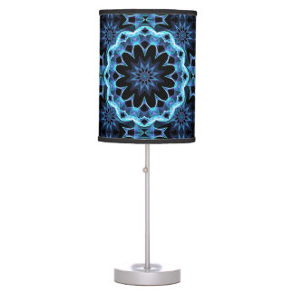 Glowing Stars, Abstract Crystal Teal Light Lamp