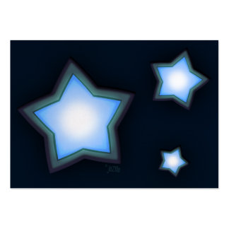 Glowing Stars Chubby Profile Card Large Business Cards (Pack Of 100)