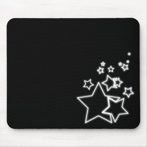 glowing stars mouse mat