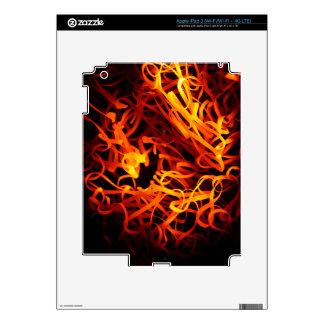 Glowing steel wool iPad 3 skins