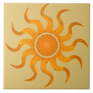 Glowing Sun Desert Tile - Large