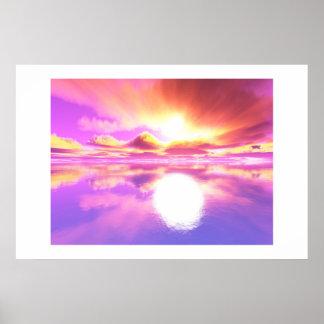 Glowing Sunset II Poster