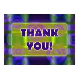 "Glowing Target Rings Thank You Green Algae Water 5"" X 7"" Invitation Card"