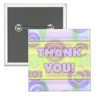 Glowing Target Rings Thank You Light Dreamy Creamy Pinback Buttons