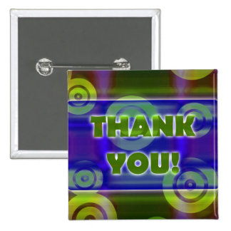 Glowing Target Rings Thank You Tropical Beams Buttons