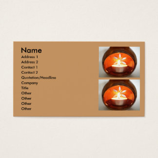 Candle glowing business cards templates zazzle glowing tea candle business card colourmoves Choice Image