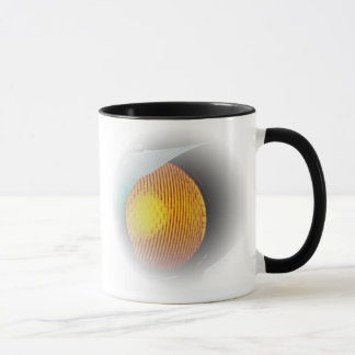 Glowing Traffic Light at Dusk Mug