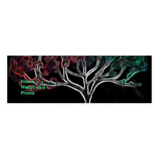 Glowing tree business card templates