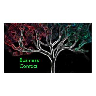 Glowing tree business card