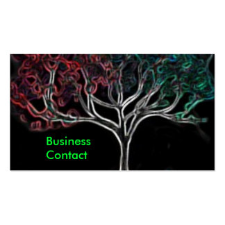 Glowing tree business card template