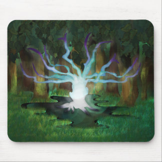 Glowing Tree Mouse Pad