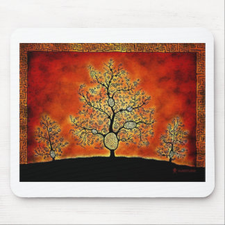 GLOWING TREE OF LIFE-VINTAGE MOUSE PAD