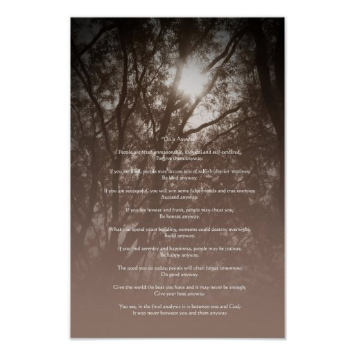 """Glowing Trees """"Do It Anyway"""" Posters"""