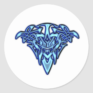 Glowing Tribal/Celtic Heart customizable design Classic Round Sticker
