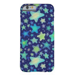 Glowing Watercolor Stars Barely There iPhone 6 Case