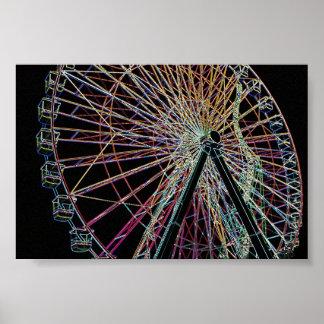 Glowing Wheel Poster