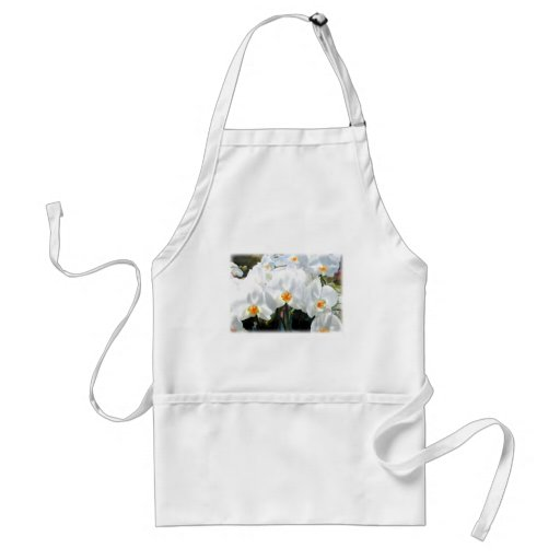 Glowing White Phalaenopsis Orchids Aprons