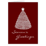 Glowing White Tree Christmas Card