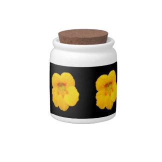 Glowing Yellow Nasturtium Candy Jar