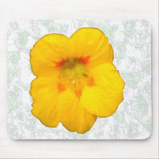 Glowing Yellow Nasturtium Flower Mousepad