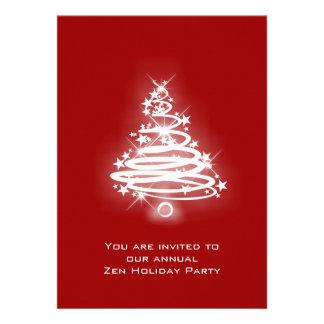 Glowing Zen Christmas Tree Personalized Invites
