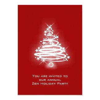 Glowing Zen Christmas Tree 5x7 Paper Invitation Card