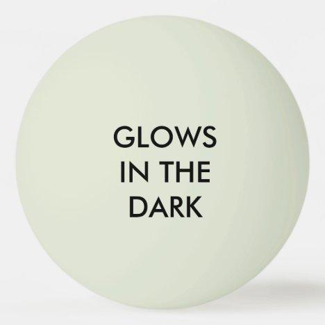 "Glows - Glow-in-the-Dark ""Green"" Ping-Pong Ball"