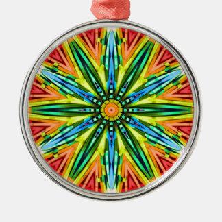 Glowstick Clock Metal Ornament
