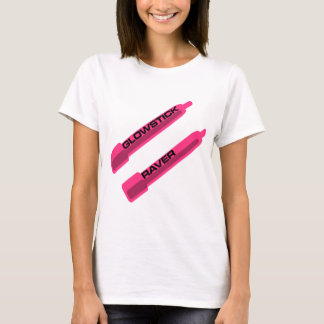 Glowstick Raver Pink T-Shirt