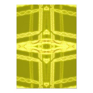 Glowy Eye - Weird Yellow Abstract Card