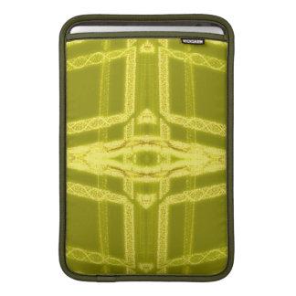 Glowy Eye - Weird Yellow Abstract MacBook Air Sleeves