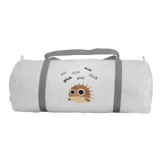 Glub Blowfish Cute Emoji Duffle Bag