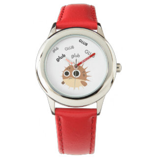 Glub Blowfish Cute Emoji Watch