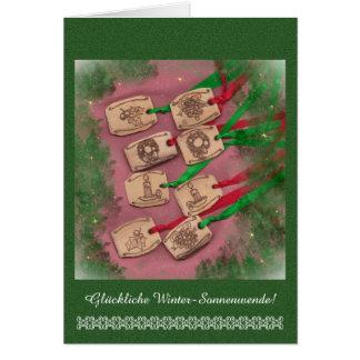Glückliche Winter-Sonnenwende Greeting Cards