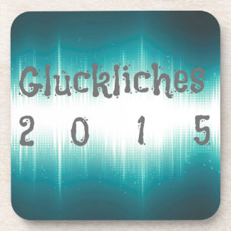 Gluckliches 2015.jpg posavasos de bebida