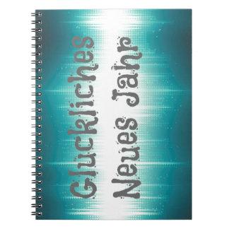 Gluckliches Neues Jahr Spiral Notebooks