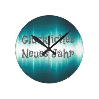 Gluckliches Neues Jahr Reloj Redondo Mediano