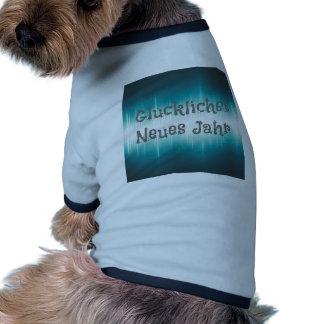 Gluckliches Neues Jahr Camiseta Con Mangas Para Perro