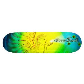 Glücksbringer Kleeblatt Good luck Skateboard