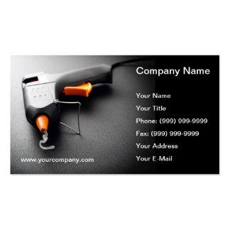 Glue gun business card