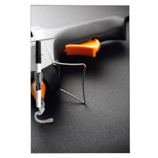 Glue gun dry erase board