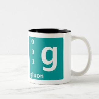 Gluon (zurdo) taza de dos tonos